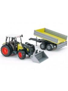 Bruder Трактор с прицепом и погрузчиком Claas Nectis 267 F Брудер 01998