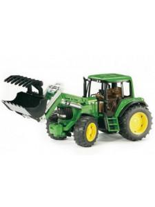 Bruder Трактор John Deere 6920 с погрузчиком Брудер 02052