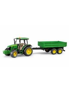 Bruder Трактор с приц John Deere 5115M Брудер 02108