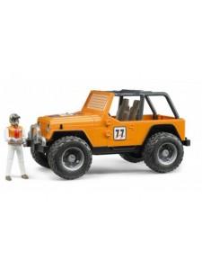 Bruder Джип-внедорожник Cross Country Racer с гонщиком Брудер 02542