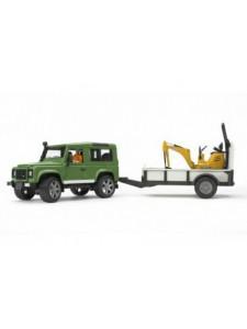 Внедорожник Bruder Land Rover c прицепом и экскаватором 02593 Брудер