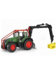 Bruder Трактор Fendt 936 Vario лесной с манипулятором Брудер 03042
