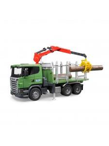 Лесовоз Bruder Scania с краном и брёвнами 03524 Брудер