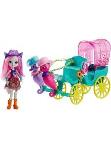 Игровой набор Enchantimals Карета с куклой Санделла Морской Конёк FKV61