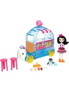 Набор Enchantimals Фургончик мороженого Прины Пингвины FKY58
