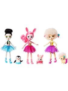 Набор кукол Enchantimals Прина Пингвин, Бри Банни и Лорна Барашка FRH55