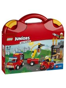 """Лего 10740 Чемоданчик """"Пожарная команда"""" Lego Juniors"""