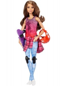 Mattel Кукла Барби Скейтбордистка Безграничные движения Barbie Made To Move DVF70