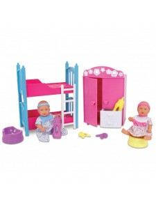 Кукла New Born Baby Пупсики в спальне Simba