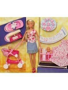 Кукла Штеффи с младенцем и аксессуарами Simba