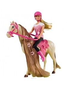 Кукла Штеффи на лошади Simba
