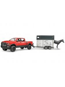 Bruder Пикап RAM 2500 Power Wagon с коневозкой и лошадью Брудер 02501