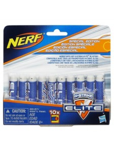 Комплект 10 деко-стрел для бластеров Элит Nerf Hasbro B5571
