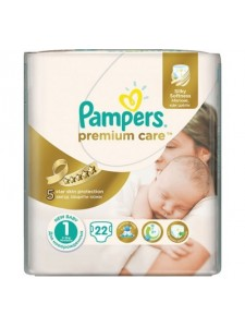 Подгузники Pampers Premium Care Newborn 1 (2-5 кг), 22 шт