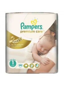 Подгузники Pampers Premium Care Newborn 1 (2-5 кг), 88 шт