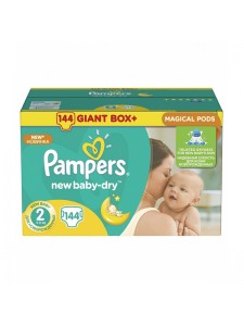 Подгузники Pampers New Baby-Dry 2 Mini (3-6 кг), 144 шт