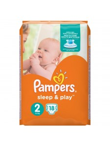 Подгузники Pampers Sleep&Play 2 Mini (3-6 кг), 18 шт