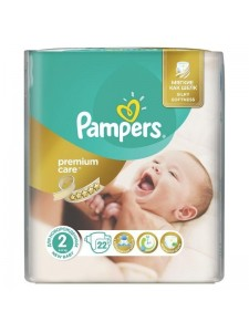 Подгузники Pampers Premium Care 2 (3-6 кг), 22 шт