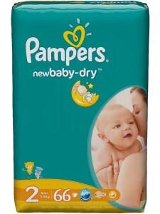 Подгузники Pampers New Baby-Dry 2 Mini (3-6 кг), 66 шт
