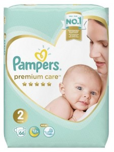 Подгузники Pampers Premium Care 2 Mini (4-8 кг), 66 шт