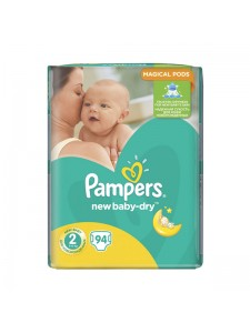 Подгузники Pampers New Baby-Dry 2 Mini (3-6 кг), 94 шт
