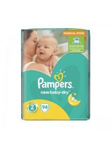 Подгузники Pampers New Baby-Dry 2 Mini (3-6 кг), 94 шт
