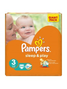 Подгузники Pampers Sleep&Play 3 Midi (5-9 кг), 100 шт
