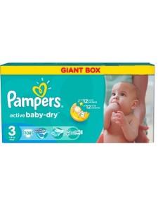 Подгузники Pampers Active Baby Midi 3 (4-9 кг), 108 шт