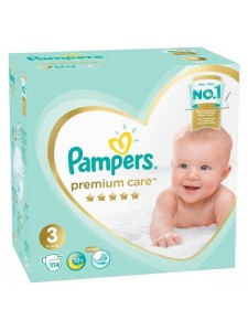 Подгузники Pampers Premium Care 3 Midi (6-10 кг), 114 шт.