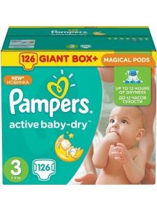 Подгузники Pampers Active Baby Midi 3 (5-9 кг), 126 шт