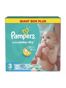 Подгузники Pampers Active Baby Midi 3 (4-9 кг), 126 шт