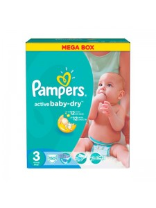 Подгузники Pampers Active Baby Midi 3 (4-9 кг), 150 шт