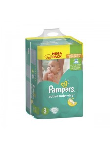 Подгузники Pampers Active Baby-Dry Midi 3 (5-9 кг), 152 шт