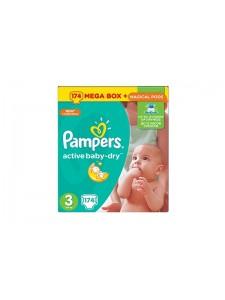Подгузники Pampers Active Baby Midi 3 (5-9 кг), 174 шт