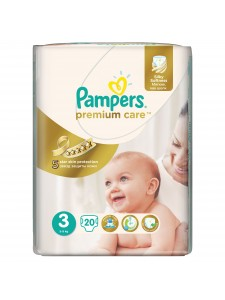 Подгузники Pampers Premium Care 3 Midi (5-9 кг), 20 шт