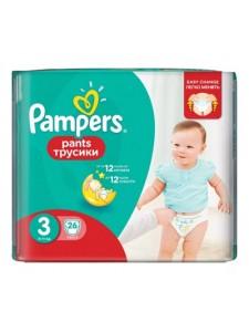 Подгузники-трусики Pampers Pants 3 (6-11 кг), 26 шт