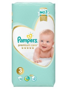 Подгузники Pampers Premium Care 3 Midi (6-10 кг) 52 шт