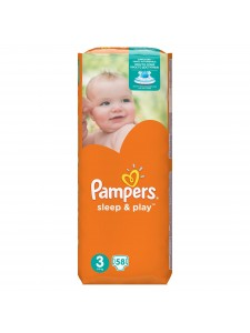 Подгузники Pampers Sleep&Play 3 Midi (5-9 кг), 58 шт