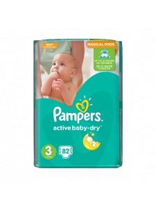 Подгузники Pampers Active Baby Midi 3 (5-9 кг), 82 шт