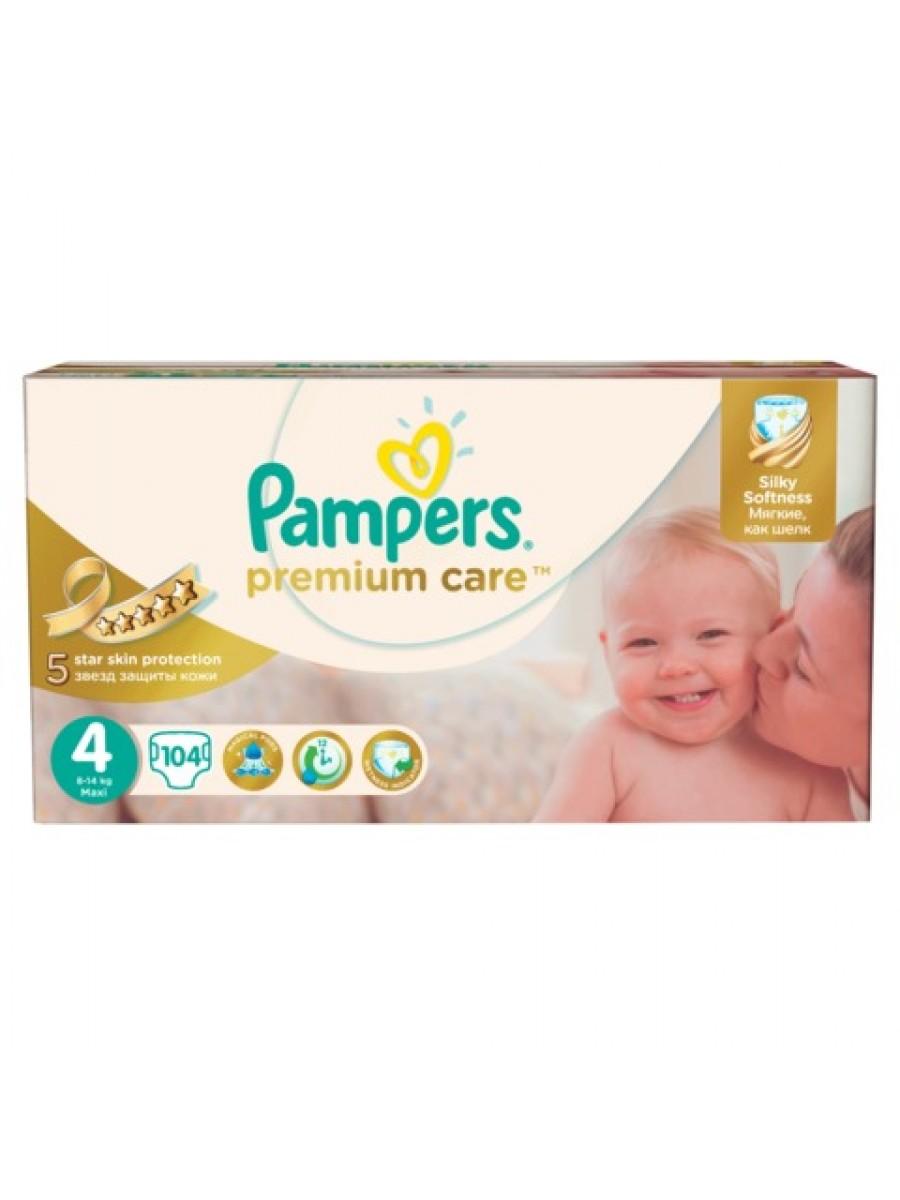 491351edadbf Подгузники Pampers Premium Care 4 Maxi 8-14кг 104шт купить в Минске