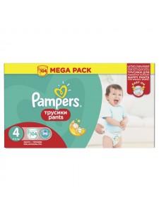 Подгузники-трусики Pampers Pants 4 (8-14 кг), 104 шт