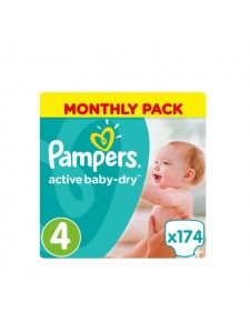 Подгузники Pampers Active Baby Maxi 4 (8-14 кг), 174 шт