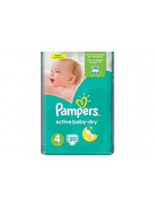 Подгузники Pampers Active Baby Maxi 4 (8-14 кг), 20 шт