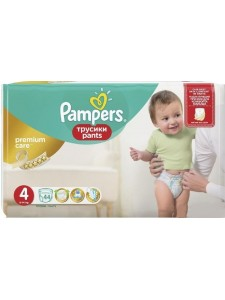 Подгузники-трусики Pampers Premium Care Pants 4 (8-14 кг), 44 шт
