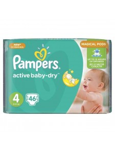 Подгузники Pampers Active Baby Maxi 4 (8-14 кг), 46 шт