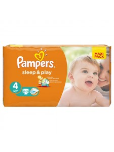 Подгузники Pampers Sleep&Play 4 Maxi (8-14 кг), 50 шт