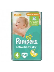 Подгузники Pampers Active Baby Maxi 4 (8-14 кг), 54 шт