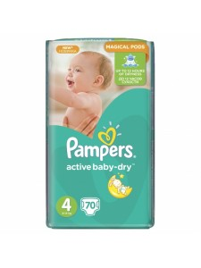 Подгузники Pampers Active Baby Maxi 4 (8-14 кг), 70 шт