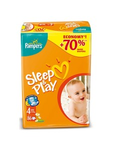 Подгузники Pampers Sleep&Play 4 Maxi (8-14 кг), 86 шт