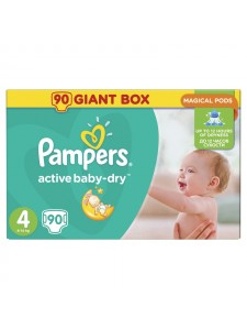 Подгузники Pampers Active Baby Maxi 4 (8-14 кг), 90 шт